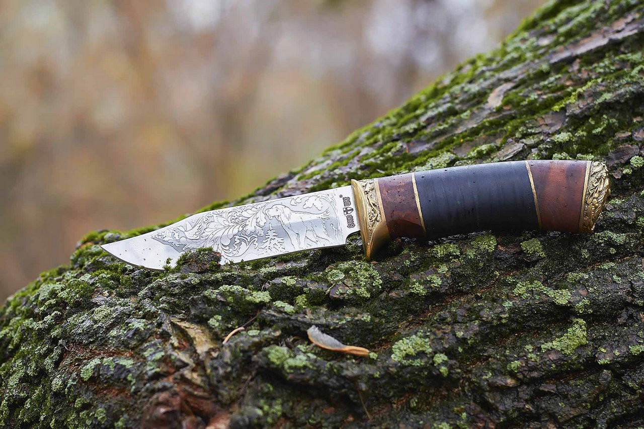 Нож охотничий Волкодав (кожа)